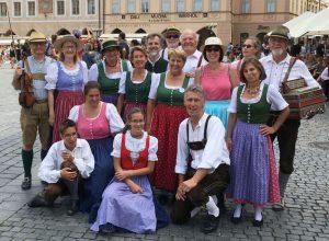 Die Volkstanzgruppe in Prag im Sommer 2017