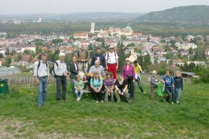 Die Volkstanzgruppe wanderte 2016 rund um Klosterneuburg